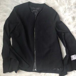 Zara basic blazer with bell sleeves